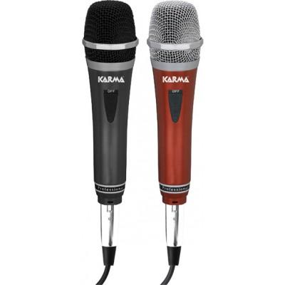 Microfone Mão Dinâmico 600 ohm (Par) Karma
