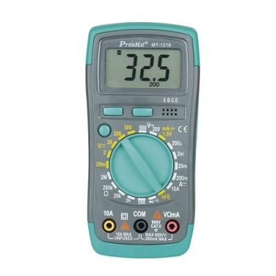 Multímetro Digital 3½ Dígitos Retroiluminado