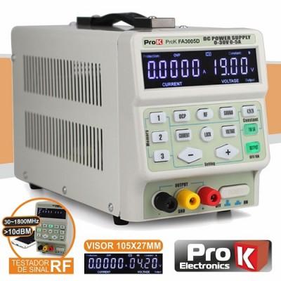Fonte Alim. Digital 0-30V / 0-5A Testador RF
