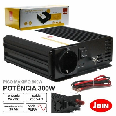 Conversor Onda Pura 24V - 230V 300W