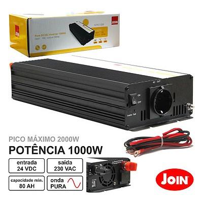 Conversor Onda Pura 24V - 230V 1000W