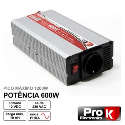 Conversor Onda Pura 12V - 230V 600W