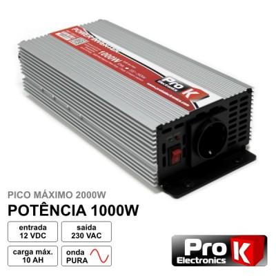 Conversor Onda Pura 12V - 230V 1000W