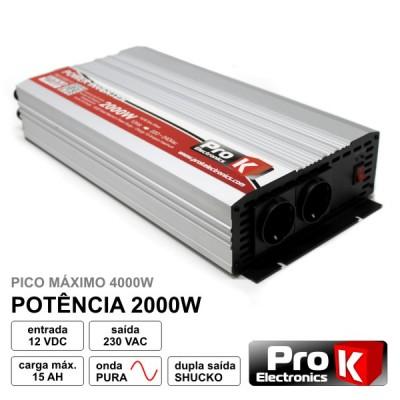 Conversor Onda Pura 12V - 230V 2000W
