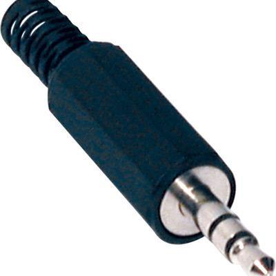 Ficha 3.5 Macho Stereo - Plástico