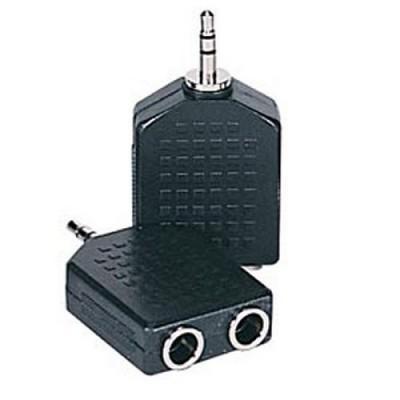 Adapt. Jack 3.5 M / 2xJack 6.35 F Stereo