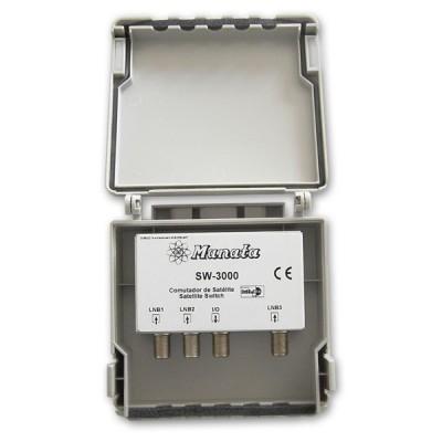 Comutador DiseqC 3 ent. LNB SW3000