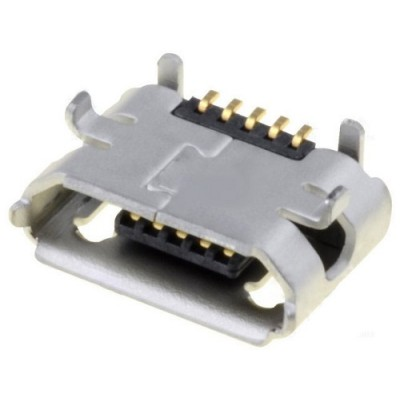 Ficha Micro USB 2.0 B 5 Pinos Fêmea