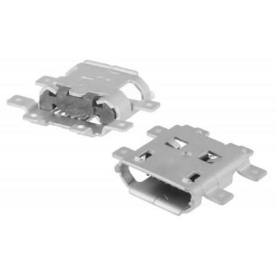 Ficha USB micro-B 5 pinos SMT p/ PCB