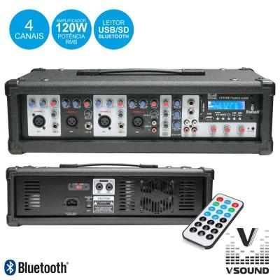Amplificador Audio Prof. 4 Canais 120W