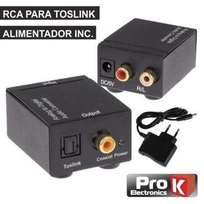 Conversor Audio RCA-TOSLINK PROK