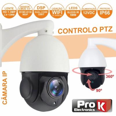 Câmera Vigilância IP CMOS 960P 1.3MP WIFI