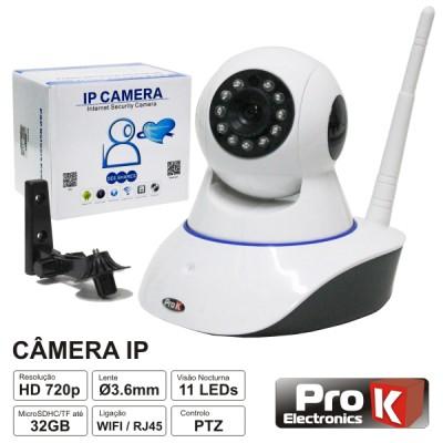 Câmera Vigilância IP 720P WIFI PTZ