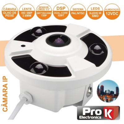 Câmera Vigilância IP CMOS 720P 5MP