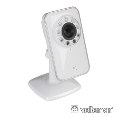 Câmera Vigilância IP C/ E S/ Fios a Cores IR