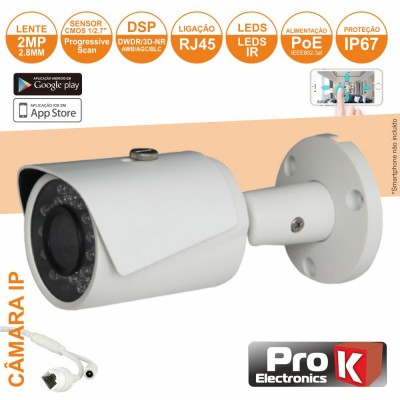 Câmera Vigilância IP CMOS 1080P 2MP
