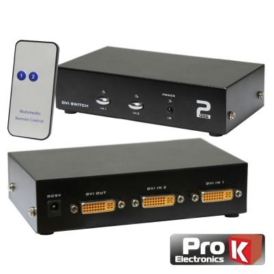 Distribuidor DVI-I Amplif. 2 Eentradas 1 Saída