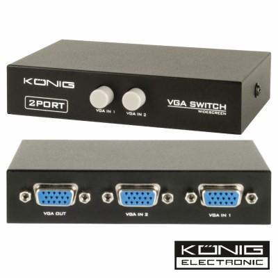 Dist. Comutador VGA 2 Entradas 1 Saída