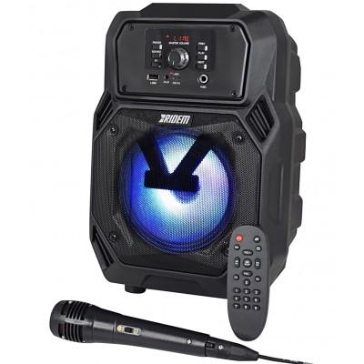 Coluna 40W USB/BT/BAT + Microfone