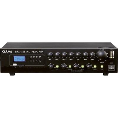 Amplificador Audio 100V 170W 4 Zonas