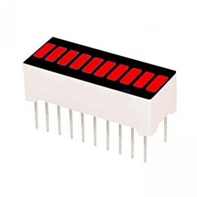 Barra LED 10 Segmentos 20 Pinos – Vermelho