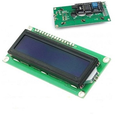 Display IIC/12C LCD1602 16×2 c/ Driver – Azul