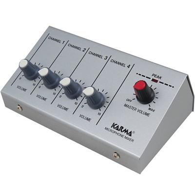 Misturador Microfone 4 Canais