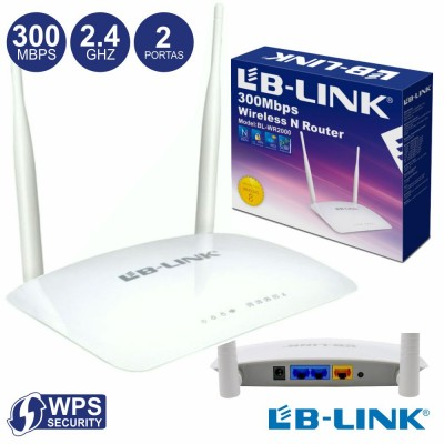 Router Wifi 2 Antenas 300mbps Wps
