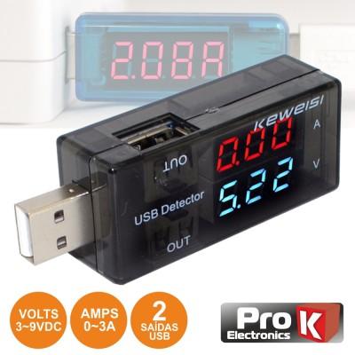 Testador USB 3-9V PROK