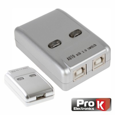 Distri. Comutador USB 2 Entradas 1 Saída