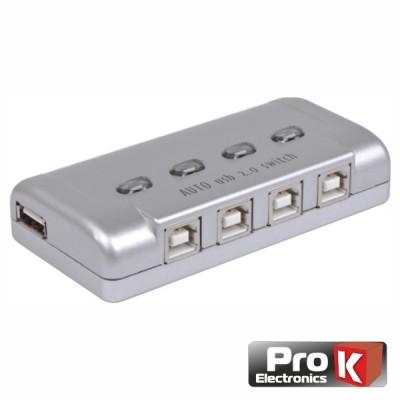 Distri. Comutador USB 4 Entradas 1 Saída