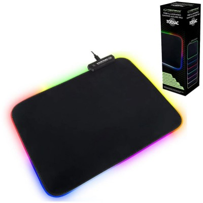 Tapete P/ Rato Gaming C/ LED RGB 35x25 Preto