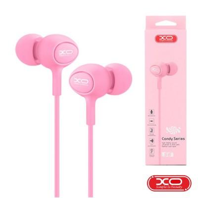 Auscultadores C/ Fios Stereo Rosa XO