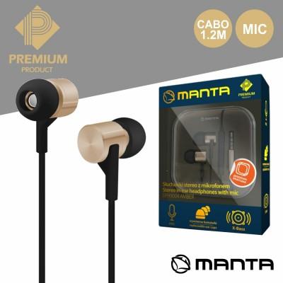 Auriculares Stereo C/ Mic Dourado