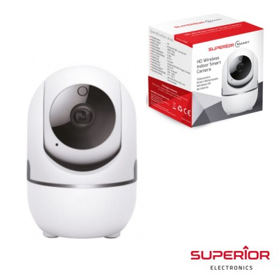 Câmara interior WIFI IP HD PAN/TILT c/ visão noturna